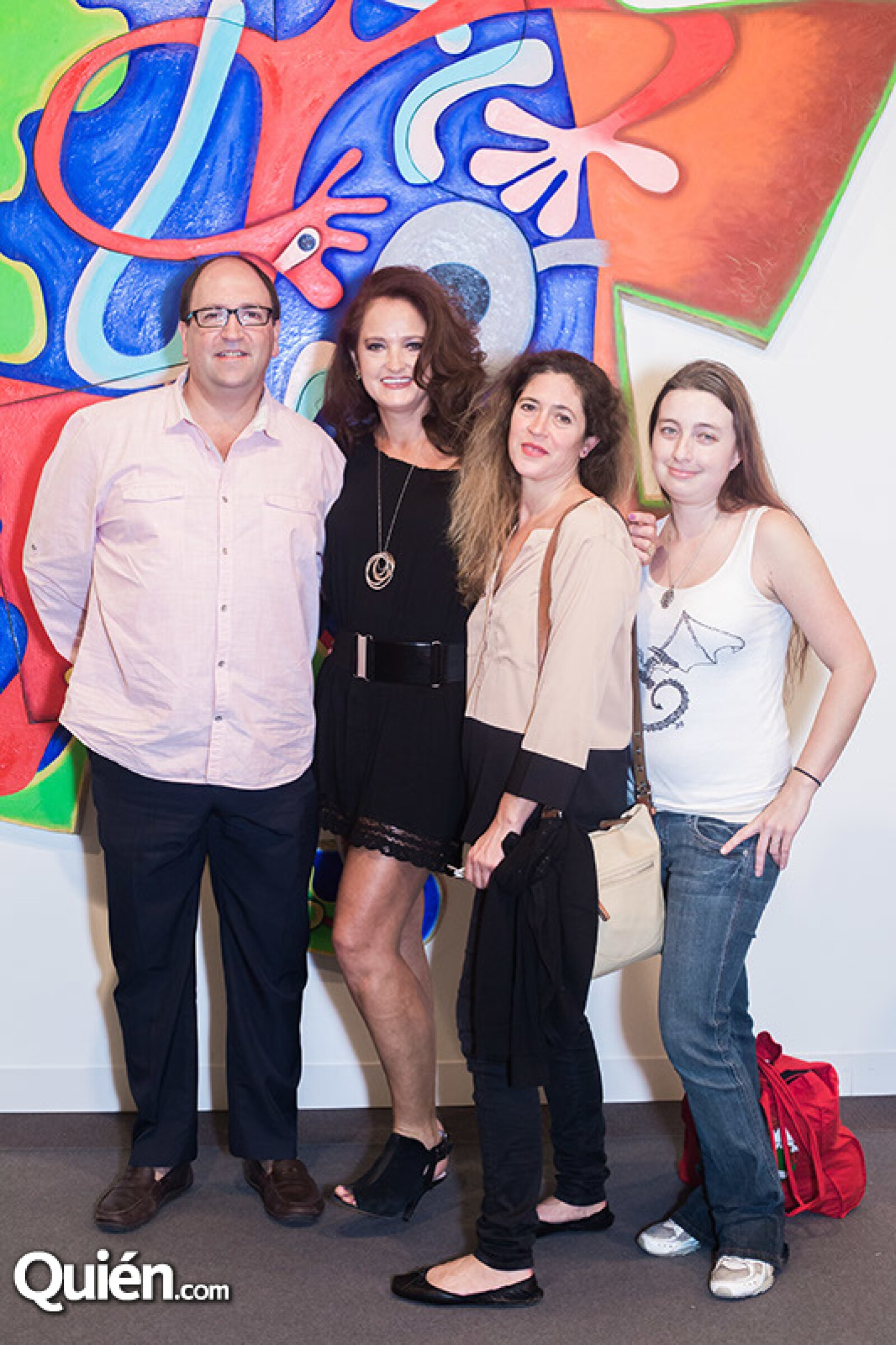 Jon Irurotagoyena,Luz María Irurotagoyena,Martha Benítez y Jennifer Sparks