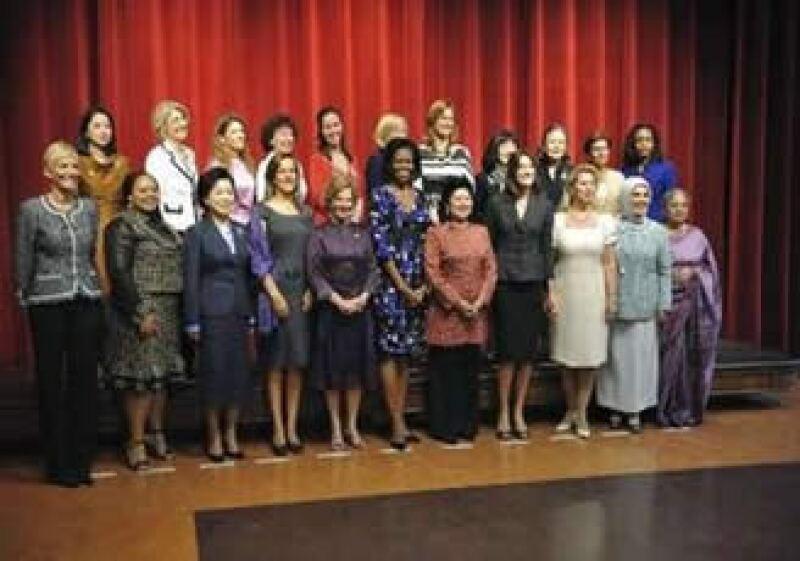 Las esposas de los presidentes del Grupo de los G20. (Foto: Reuters)
