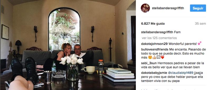 Antonio Banderas y Melanie Griffith en Instagram
