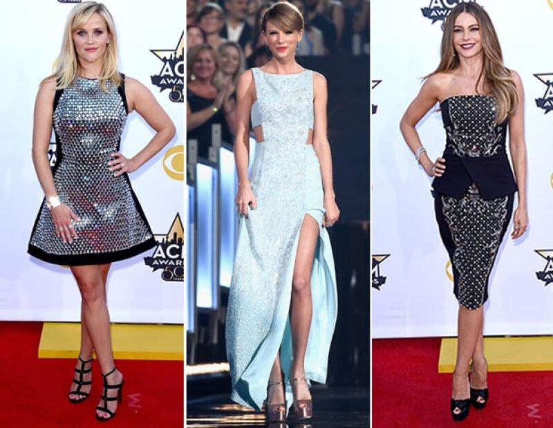 Reese Witherspoon, Taylor Swift y Sofía Vergara fueron las más guapas de la premiación número 50 a la música country. Descubre todos los detalles de sus looks.