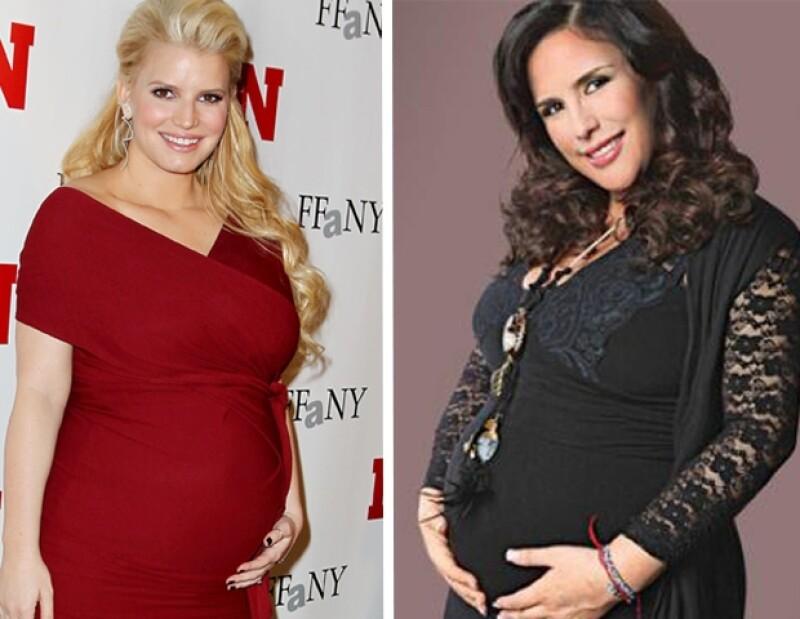 Ambas han disfrutado al máximo de su embarazo en compañía de sus respectivas parejas.