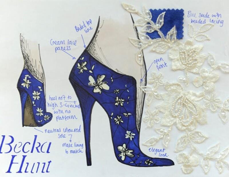 La estudiante se inspiró en el calzado del siglo 19.