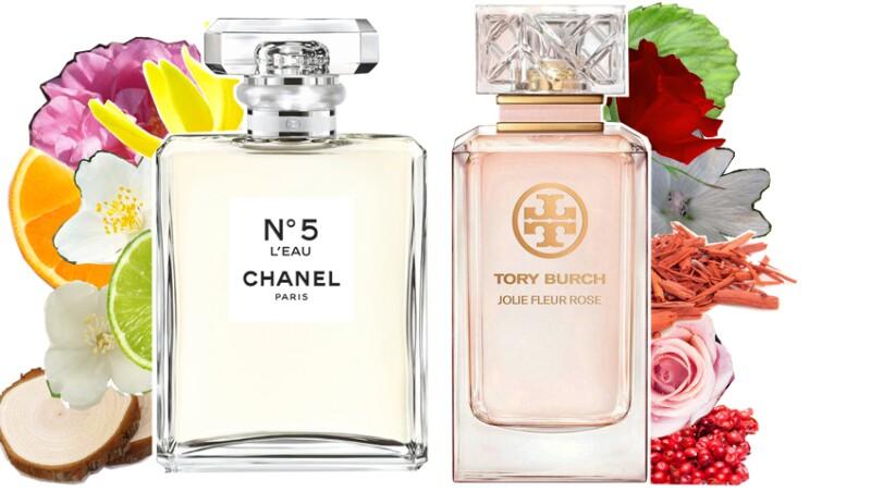 Chanel Nº5 L'Eau y Tory Burch Jolie Fleur Rose