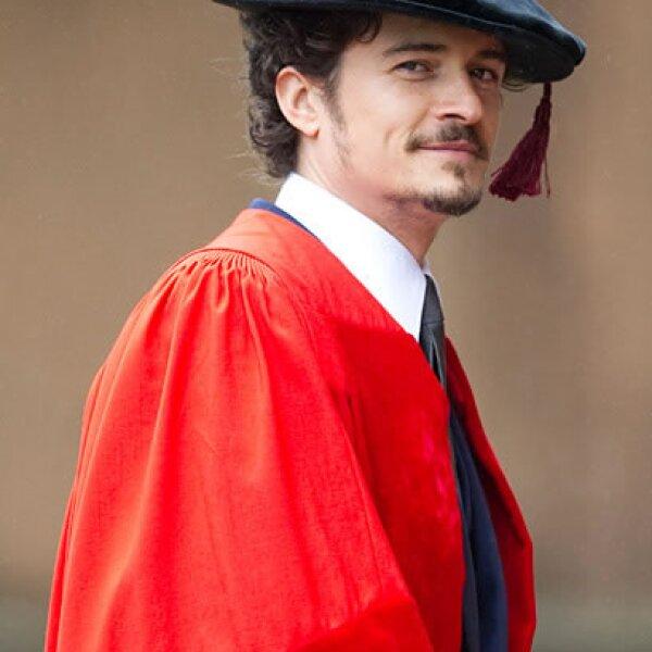 Orlando Bloom se graduó en 2010 de la Universidad de Kent.