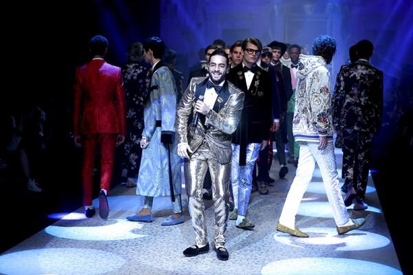 Dolce & Gabbana Fashion show, MFW Mens, AW 2018-19, Milan, Italy - 13 Jan 2018