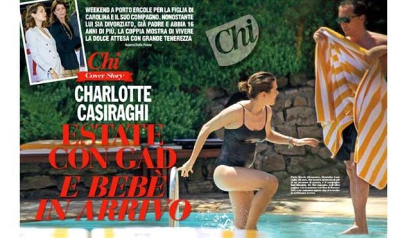 La revista italiana Chi publicó una imagen en la que el vientre de la hija de Carolina se observa notablemente abultado, de acuerdo con el diario El País, la imagen corrobora su embarazo.