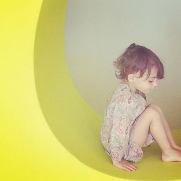 Penélope es la hija mayor de la pareja de famosos, quienes también son papás de Olivia, de un año.