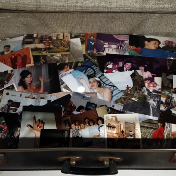 Fotografías de la infancia de Amy. La exposición fue montada con la ayuda de Alex Winehouse, hermano de la cantante.