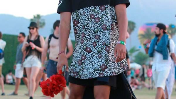 En el segundo fin de semana del festival de Indio, California, el hijo de Will Smith continuó con su look boho chic y lo presumió al máximo.