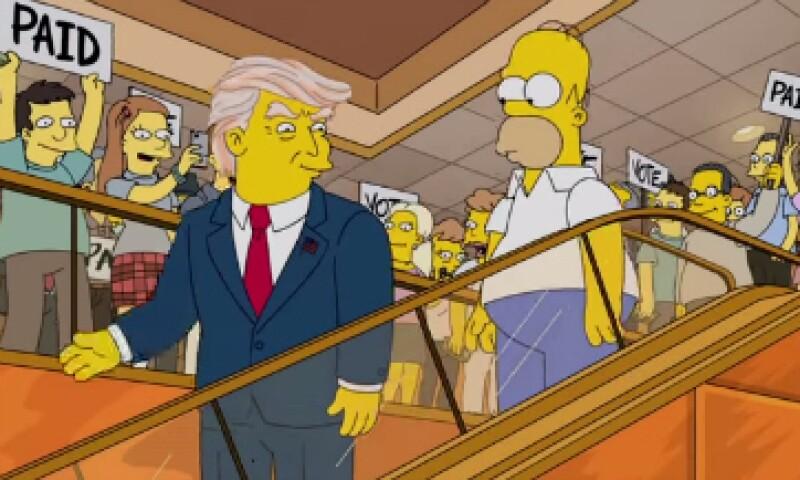 En el corto, Homero se siente fascinado por la cabellera de Trump. (Foto: YouTube/Animation Domination)