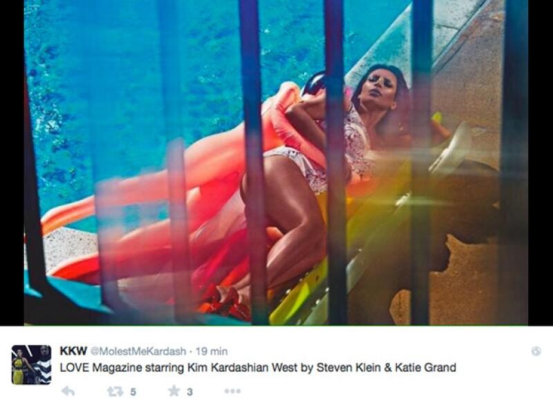 Lucir sexy en fotos ya es parte de la naturaleza de la esposa de Kanye West.