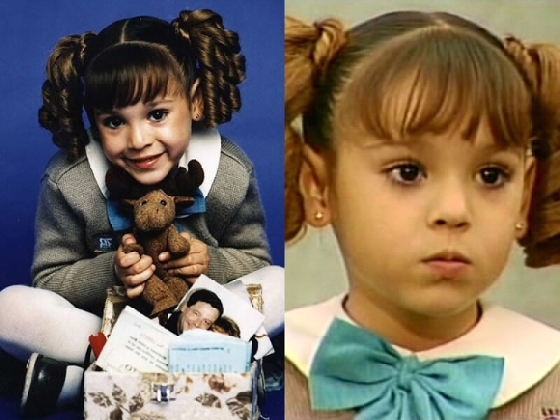 En sus inicios como actriz.