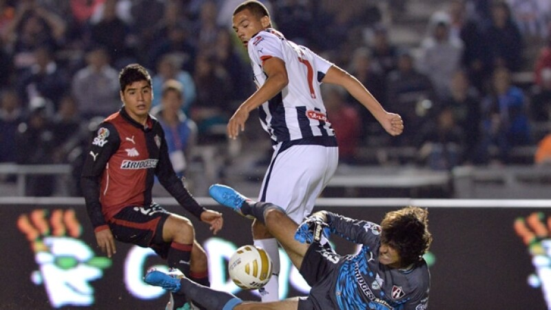 El portero Federico Vilar fue pieza clave para que Atlas se fuera con el triunfo ante los Rayados en el estadio Tecnológico