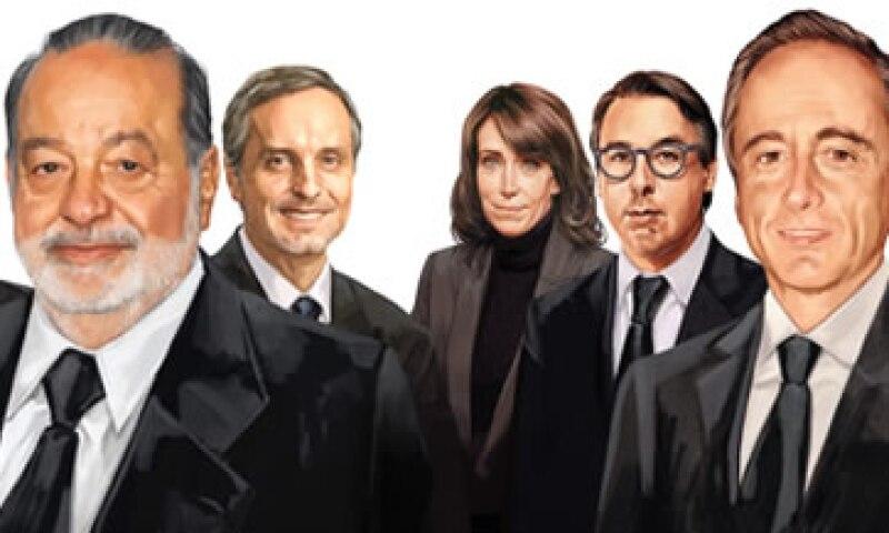 Carlos Slim Helú, Alberto Baillères González y José Antonio Fernández Carbajal, lideran el ranking 'Los 100 empresarios más importantes de México' 2013. (Foto: Especial)