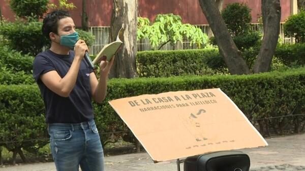 Contando cuentos, así entretiene este mexicano a niños encerrados en la pandemia(Obligatorio)