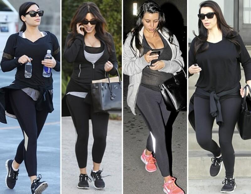 Kim se valía del color negro para disimular sus curvas