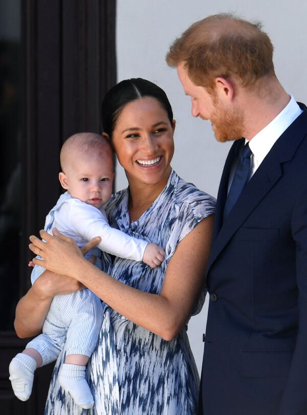 Archie Harrison, Meghan Markle and prince Harry
