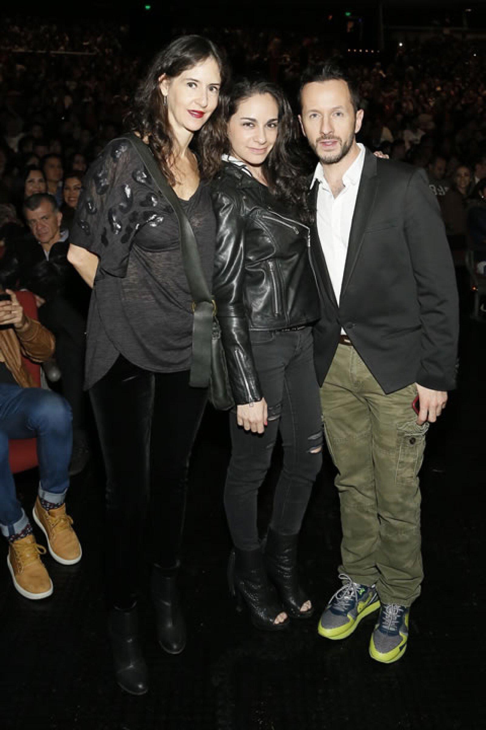 Patricia Ramírez, Paulina Madrazo y Óscar Madrazo.