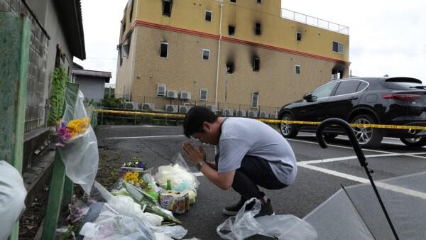 Luto por el incendio en Kyoto Animation
