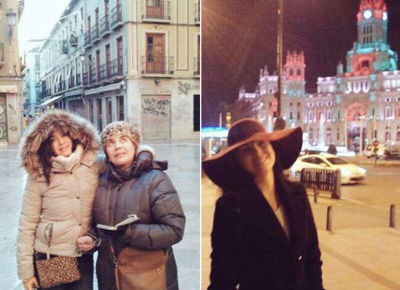La actriz colombiana sigue disfrutando su viaje familiar en varias ciudades españolas y este martes tuvo oportunidad de asistir al desfile conmemorativo del 6 de enero.