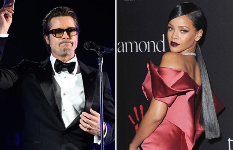 Fue durante una gala ofrecida por Rihanna en Beverly Hills que el esposo de Angelina ofreció un discurso humorístico sobre la cantante.