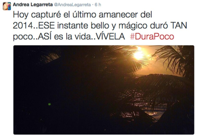 Andrea Legarreta se levantó temprano para captar el último amanecer del 2014.