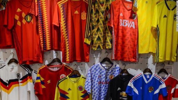 historia de los uniformes del mundial