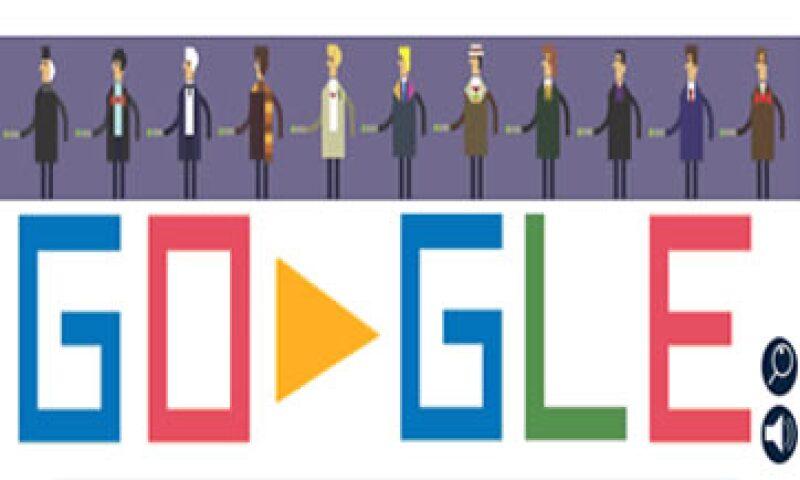 El doodle de este viernes muestra al Doctor Misterio en seis lugares diferentes.   (Foto: tomada de google.com)