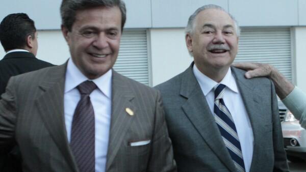 Raúl Salinas y Carlos Peralta