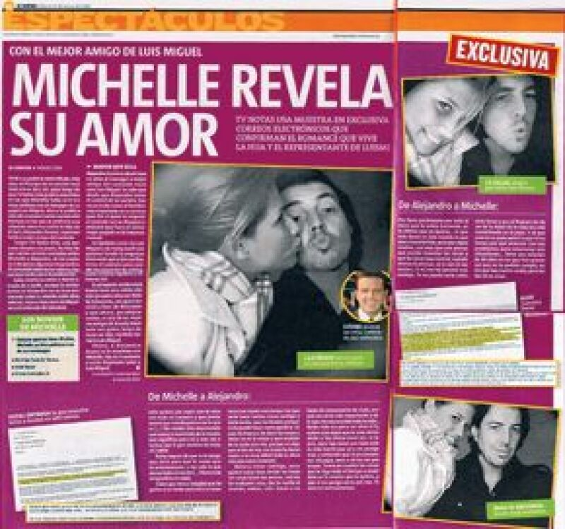 En marzo de 2008, el periódico El Centro publicó fotos en donde se ven cariñosos así como e-mails en los que evidenciaban vivir un amor prohibido.