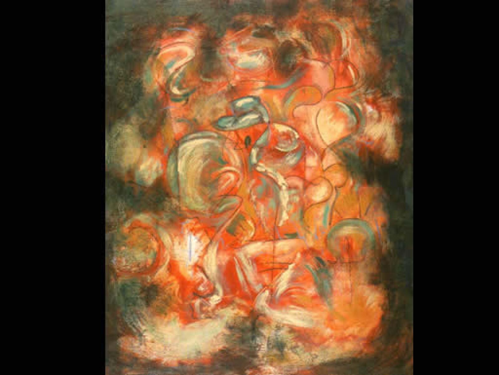 """""""Nunca copia del modelo"""", afirma su profesor. """"Caminante"""", 2003, acrílico sobre tela, 1.20 x 1.00 m"""