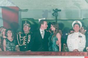 La pareja se mostró muy enamorada ante cientos de chiapanecos que se congregaron para dar el tradicional grito de independencia.