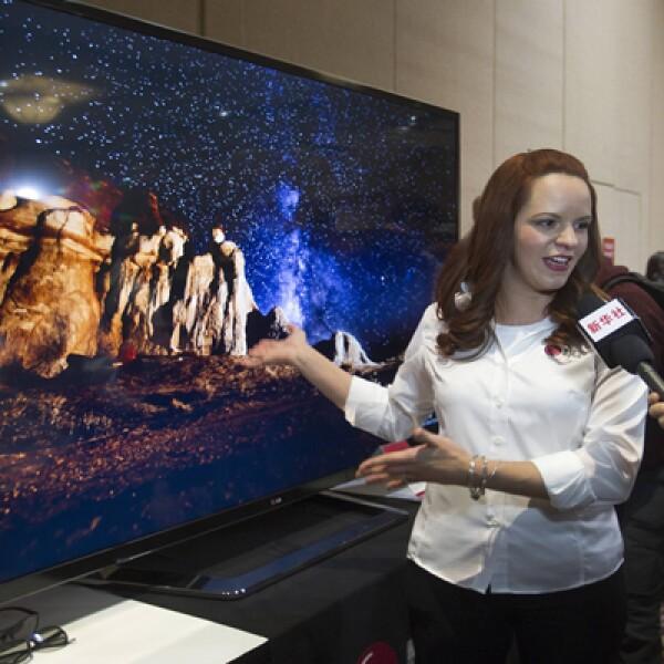 Un televisor de 84 pulgadas HD LED de LG Electronics, que se venderá a un precio de 19,999 dólares.