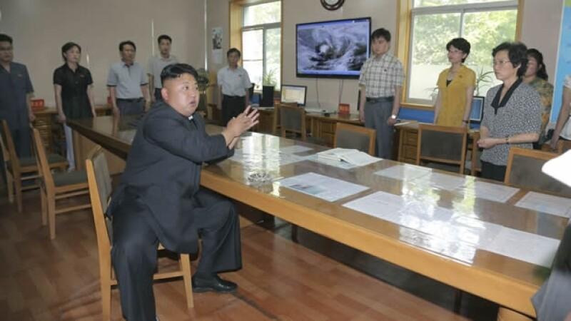 Kim Jong Un meteorólogo
