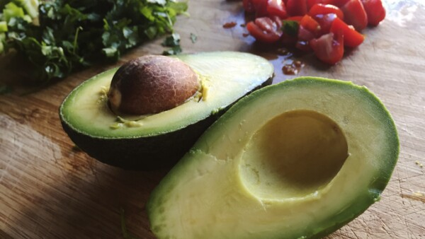 Avocado with fresh ingredients