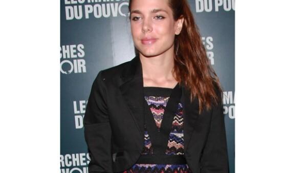 La princesa de Mónaco lució particularmente hermosa durante la alfombra roja de la nueva película de Clooney.