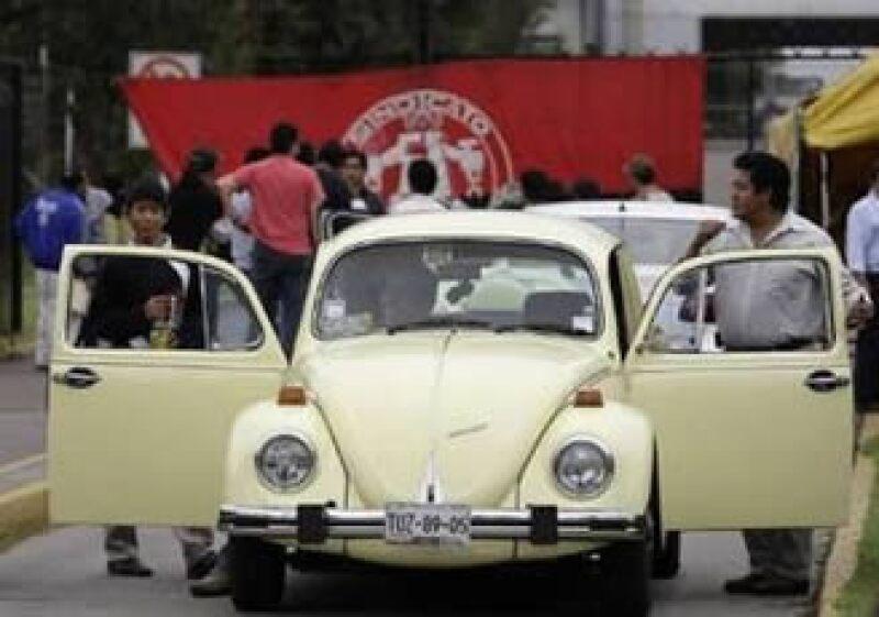 El paro en la unidad mexicana de Volkswagen inició el martes. (Foto: Reuters)
