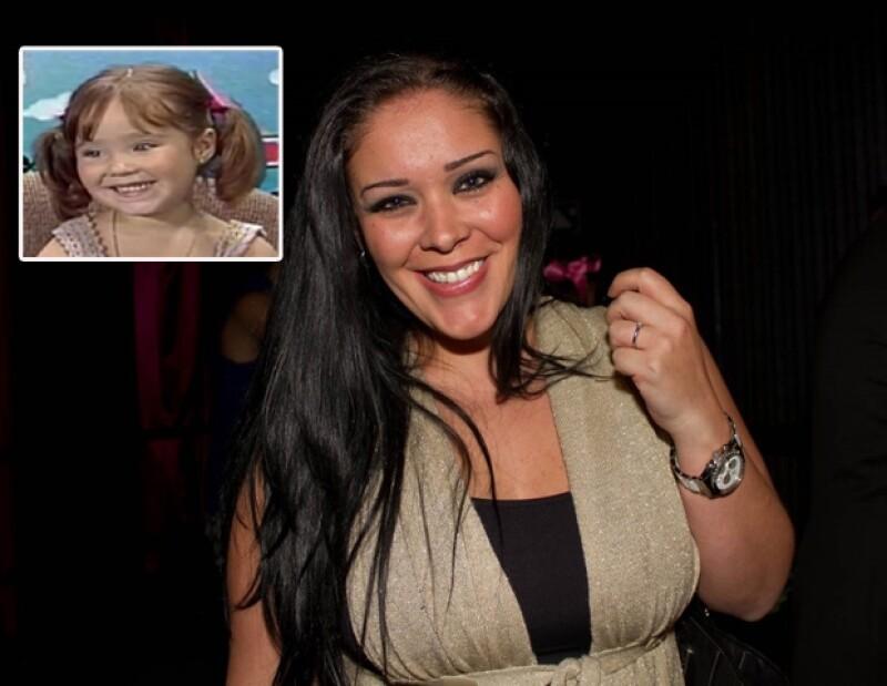 Marichelo, hermana de Anahí, también participó en el programa infantil.