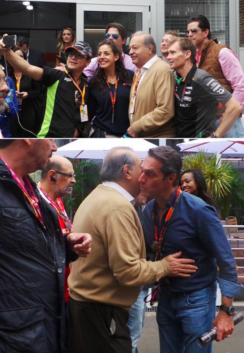 Carlos Slim Helú disfrutó al máximo el segundo día de la Fórmula 1.