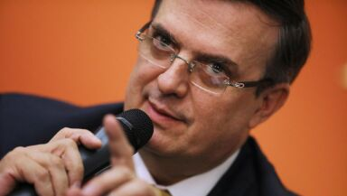 Mexico's Foreign Affairs Secretary Ebrard Holds Press Conference On Tariff Talks