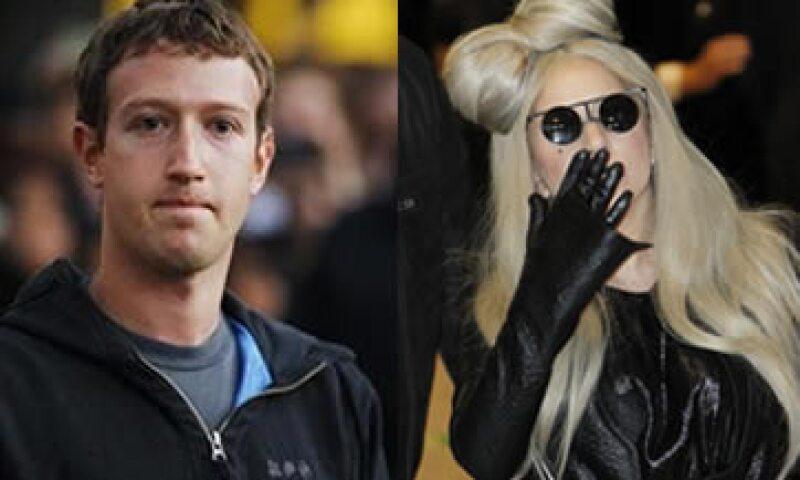 Zuckerberg y Lady Gaga se colocaron entre los 30 jóvenes más influyentes para Forbes. (Foto: Especial)