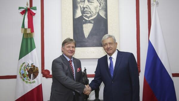 Reunión AMLO-Rusia