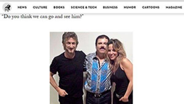 Kate del Castillo dio a 'The New Yorker' una fotografía del encuentro con 'el Chapo' y Sean Penn. (Foto: Especial)