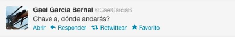 El actor tuiteó una frase de la canción `Paloma Negra´.