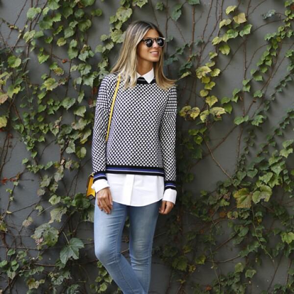 Anna Fasano, la blogger brasileña, creó looks preppy y casuales para todos los días.
