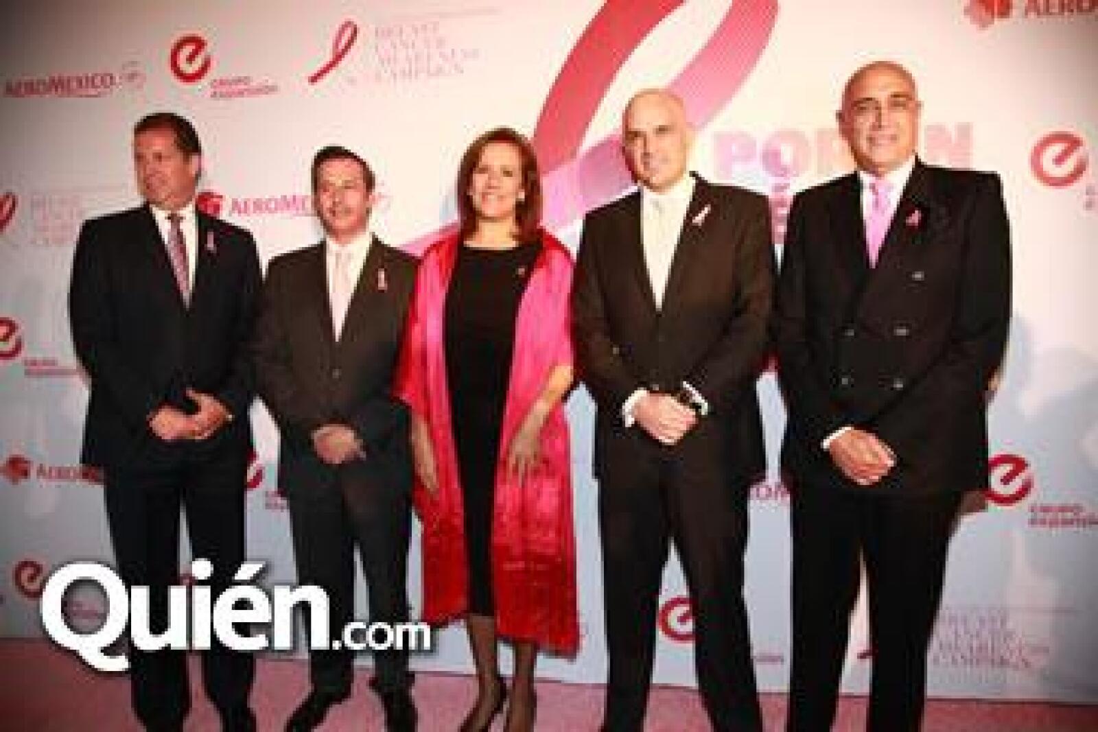 Juan Alanís, Andrés Conesa, Margarita Zavala, Manuel Rivera y Pedro Torres.