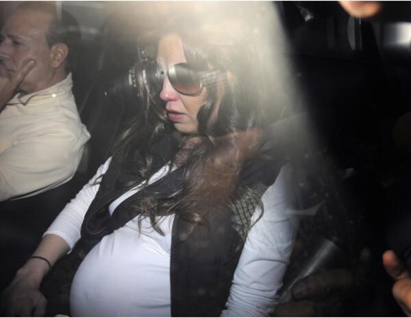Thalía lució muy afectada por la muerte de su madre.