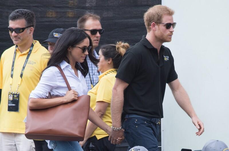 Meghan Markle y el príncipe Harry juntos durante los Invictus Games en Canadá.