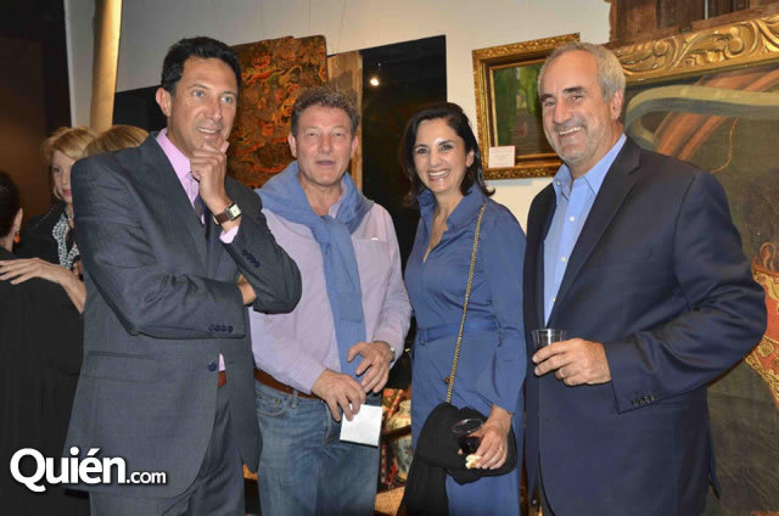 Fernando Vilchis, Pablo Goebel, Ceci y Luis Olazábal