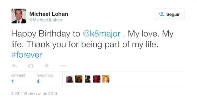 Hace unos días fue el cumpleaños de Kate, y Michael no perdió la oportunidad de felicitar a su ahora esposa.
